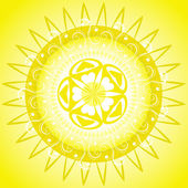 蔓藤花纹图案太阳能框架 — 图库矢量图片