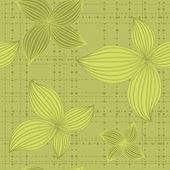 Sömlös bakgrund blad grön — Stockvektor