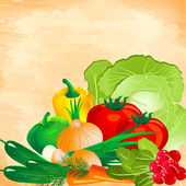 Still life of vegetables — Stock Vector