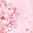 Romantic pink background — Stockvectorbeeld