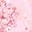 Romantic pink background — Imagen vectorial