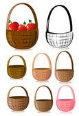 Baskets — Stock Vector