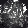图库矢量图片: Abstract floral background grunge