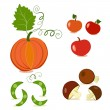 Stock Vector: Painted Vegetables