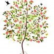 Royalty-Free Stock Vector Image: Apple blossom tree
