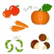 Painted Vegetables — Stock Vector