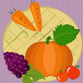Autumn Still Life — Stock Vector