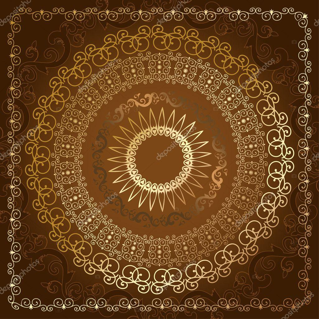 oriental motif abstrait dor image vectorielle oksana 3317679. Black Bedroom Furniture Sets. Home Design Ideas