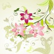 Pattern with lilies - Stock Vector