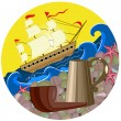 Stock Vector: Still life sailor