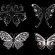Set of delicate butterflies — Stock Vector #3694534