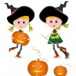 Little witch — Vector de stock #3710471
