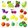 Royalty-Free Stock Vector Image: Fruit set