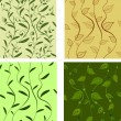 Background pattern leaves — Stock Vector