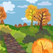 Autumn morning — Stock Vector