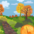 Royalty-Free Stock Vector Image: Autumn morning