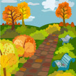 Autumn Park — Vector de stock #3760835