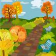 Autumn Park — Stock Vector
