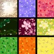 Set of abstract floral background — Stock Vector #3760854