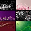 Set of floral patterns backgrounds - Stock Vector