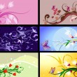 Set of floral patterns backgrounds — Stock Vector