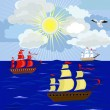 Royalty-Free Stock Imagen vectorial: Yachts on the high seas