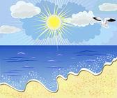 Mare spiaggia — Vettoriale Stock