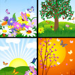 Natural landscapes — Stock Vector #3874500