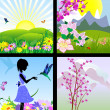 Royalty-Free Stock Vector Image: Set of natural landscapes