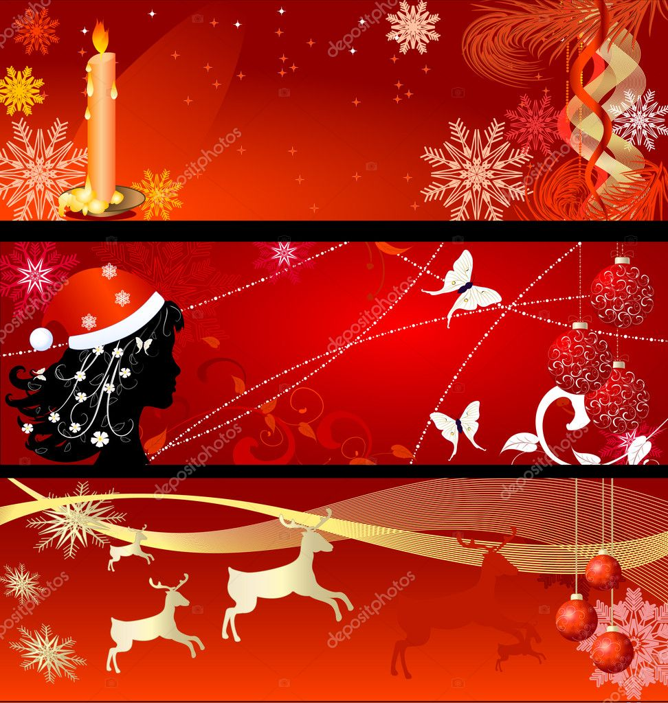 Set of New Year's backgrounds — Stock Vector #3874482