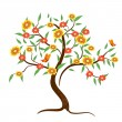 Stock Vector: Flower tree