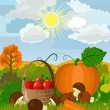 Harvest on the nature - Stock Vector