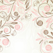 Vector de stock : Floral background