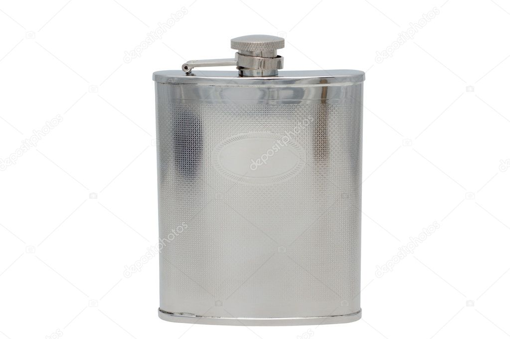 Iron flask isolated on a white background.   — Stock Photo #2867599