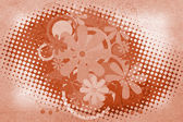 Blume auf einem Papier Grunge hintergrund. — Stockfoto