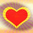 Heart halftone grunge background. — Stock Photo #3036269