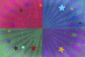 Stars and beams grunge background. — Stock Photo