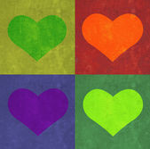 Heart and rectangles background. — Stock Photo