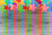 Abstract background with lines and stars. — Stock Photo