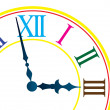 Stockvector : Dial of hours. Vector illustration