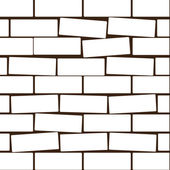 Background from a white brick. Vector illustration — Stock Vector