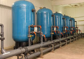 Water purification filter equipment — Foto Stock