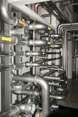 Filter equipment with many metal pipes — Foto de Stock