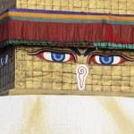 Buddha eyes on a Boudha Nath stupa — Stock Photo #3098221