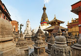 Swayambhunath (monkey temple) stupa — Stock Photo