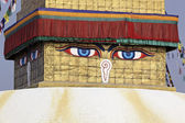 Buddha eyes on a Boudha Nath stupa — Stock Photo