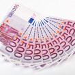 500 Euro bank notes fanned — Stock Photo