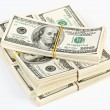Many bundle of US 100 dollars — Stock Photo #3159545