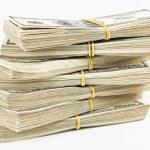 Many bundle of US 100 dollars — Stock Photo #3159547