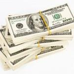 Many bundle of US 100 dollars bank notes — Stock Photo #3185107